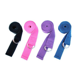 Wholesale 10Pcs Cotton Yoga Strap Stretch Belt Gym Exercise Webbing Workout Fitness Rope YD1009 Dropshipping
