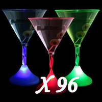 Wholesale Light up LED Flashing Margarita Wine Multi lightup Martini Cup
