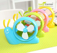 Wholesale USB Snails Fan Mini Fan USB Fans Workshop Fan Yellow Green Red Blue from Micar