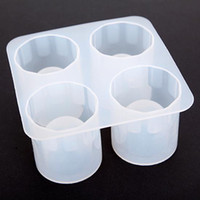 Wholesale M19 Silicone Shooters Ice Cube Shot Glass Freeze Mold Mould