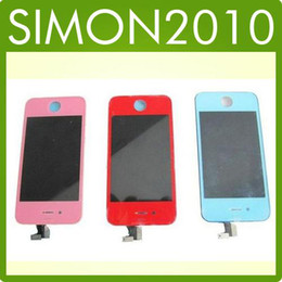 Iphone 4 4G complete full screen LCD Display with digitizer touch panel Replace Red,pink,blue green