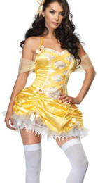 Wholesale sample hot new sexy role playing golden princess costumes fairy tales sexy lingerie babydoll chemise