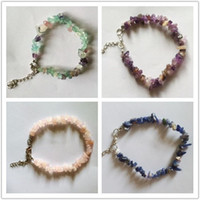 Wholesale Multi mixed different stones chip bracelet mixed stone chip bracelet semi precious stone chip natural stone jewelry