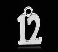 number charms - Silver Plated Number Age quot quot Charm Pendants x10mm quot x3 quot