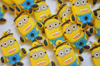 Cheap 100pcs lot Free shipping Mini Rubber band Loom charm braclet charms Minion loom charms