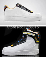Wholesale Newest Classic Riccardo Tisci R T Hig Low Top Sneakers Lovers Pure White Black AF1 Sneakers Men Running Shoe Women Jogging Shoes