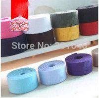 webbing belt - 10m cm Colors Canvas Ribbon Belt Cotton webbing lable ribbon Bias binding tape for Diy bag craft projects