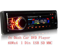 Wholesale 1 Din Car DVD Player Single Din In Dash DVD CD SD USB Slot Stereo Player Radio Wx4