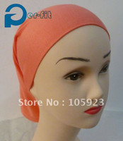 Wholesale islamic underscarf qualified soft cotton headband inner hijab chemo bonnet colors free ship