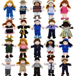 Wholesale NEW Male or fomale characters mouth move Baby Plush Toy FLATFriends large hand puppets take off clothes for birthday gift