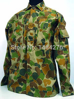 Cheap Wholesale-Australian Army Camo Woodland Auscam BDU Uniform Set War Game Tactical Combat Shirt +Pants