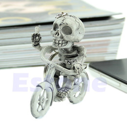 L109New Fashion Creative Bike Skull Purse Bag Rubber KeyChain Keyring Gift Key Chain