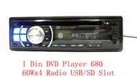 CD Player   Single Din Car DVD Player 680 1 Din In-Dash DVD CD SD USB Car Player 60Wx4 AUX Radio Detachable 1pc