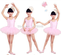 ballet leotard dress - Ballet Dress For Children Dance leotard Tulle Dress Suspender Clothing Wear Leotard ballet tutu Costume gymnastics leotard