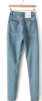 Wholesale Easy to restore ancient ways of tall waist jeans haroun pants of height