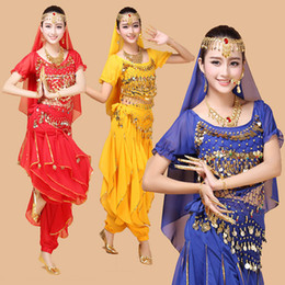 Wholesale Belly Dance Costume Bollywood Costume Indian Dress Bellydance Dress Womens Belly Dancing Costume Sets Tribal Skirt Color