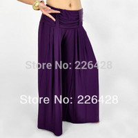 Cheap Wholesale-2015 Hot New Tribal belly dance Costume trousers pants 9 colours for Dancing belly Dancer