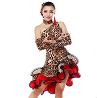 belly dance dress pattern - latin dance dress women oblique animal patterns on skirts and dresses Latin dance clothes Square