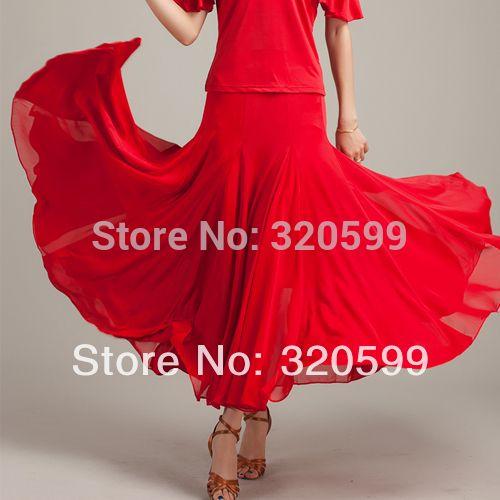 Wholesale-Elegant chiffon expansion skirt dress modern dancing dress flamenco waltz Skirt q108