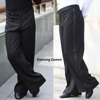 ballroom dance practice wear - New Arrival Men Jazz Latin Dance Pants Black Mens Ballroom Dance Pants Dance Wear Practice Performance DQ6044
