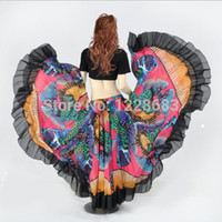 bellydance skirt - Degree Printed BellyDance Tribal Maxi Belly Dance Gypsy Costume Clothes Women Long Gypsy Skirts
