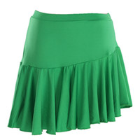 Wholesale Professional Women s Sexy Skirt Latin Dance Costume Skirt With Fringe Dance Clothing Square Color Lotus Leaf Shkirt