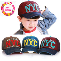 army hats for kids - SO CUTE Unisex Fashion Baby Snapback Hat Kid Hat Letter Pattern Denim Child Baseball Cap For Boy Baseball caps