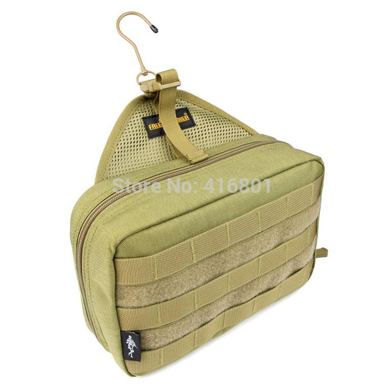 military foldable compact wash bag hygiene kit w hook. Black Bedroom Furniture Sets. Home Design Ideas