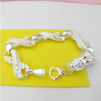 Silver bibcock - 10 silver bibcock Chic Bracelet inch hot sale silver bracelet