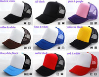Wholesale fashion Unisex cap plain Hip hop cap trucker hats street dancing cap mesh back hat