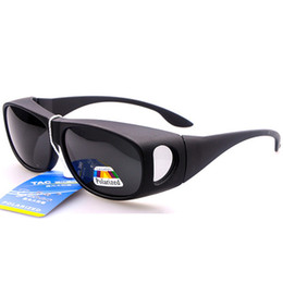 Wholesale-Unisex Polarized Fit Over Glasses Sunglasses Wrap Around Prescription RX Sports Sunglasses Womens Mens Clip on Sunglasses