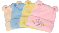 Cheap Baby tire cap autumn and winter hat yarn baby spring and autumn cashmere hat newborn knitted hat pullover thermal