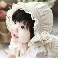 Wholesale High Quality Newborn Baby Girls Cotton Hats Sun Cap Bonnet Infants Toddler Sunhat Beanies Month