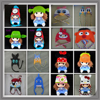 Cheap Free ship 300 styles knitting patterns Minnie Mouse baby kids hat crochet Thing 1 hats patterns,crochet baby winter hats