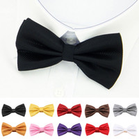 Wholesale Men Commerce Tie For Bride Business Gentleman Bow Tie Formal Concealed Lattice Multicolor Bowknot Bow Neckties Drop Shipping