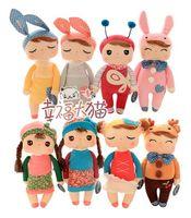 bear box kids - Cute Metoo Angela Doll with Gift Box Bunny Plush Toys Bonecas Stuffed Animal Soft Cloth Rabbit Dolls Kids Girls Birthday Gifts