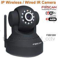 Wholesale Foscam CCTV WiFi Wireless Pan Tilt IR IP Camera FI8918W Black and white