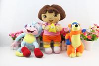 game dora - 3pcs set Dora the Explorer plush boots plush Monkey plush Swiper Fox dora