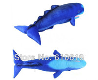 Wholesale cm Sperm Whale Cachalot Simulation Plush Toy Stuffed Animals Cushion Pillow Home Decor Children Birthday Gift