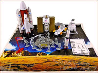 Cheap diy assembling space shuttle model space navigation satellite rocket
