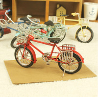 bicycle basket metal - Handmade Metal Retro bicycle with basket vintage metal car models black Multicolor Decoration Children s toys Crafts Gift