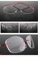 best rimless eyeglass frames - New Arrival Freeshipping Best selling fashion alloy optical eyeglasses metal rimless frame ready made silhouette