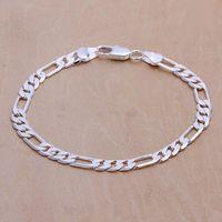 Livraison gratuite 925 bracelets de bijoux en argent sterling bijoux bracelets de mode de qualité supérieure de gros et de détail SMTH219