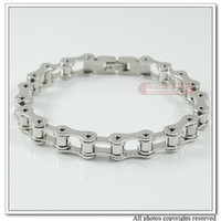 bicycle chain link - HAND CHAIN Mens L Stainless Steel Bracelet Bike Chain bicycle Jewelry cm mm souvenir Gift WB070