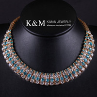 acrylic plastic cups - New Arrival Cup Chain Design Gold Plated Metals Top Grade Style Handmade CZ Diamond Necklace for Woman Wedding Colors NK