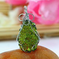 aa pendant - Aa natural moldavite green aerolites crystal stone pendant energy apotropaic3g g