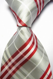 CON53 Yellow Black Red Orange Brown Blue Striped Man's Silk Polyester Woven Tie Brand New Classic Business Wedding Party Necktie