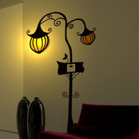 Wholesale 26R030 D Cute US Plug Wallpaper Lamp Wall Sticker Removable Wall Lamp