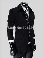 big mens suit - 2015 Classic Mens Blazer Jacket Retro British Style Big Button Solid Slim Wool Casual Men Suit Jacket Blazers BS88