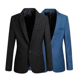 Wholesale 2015 ocasional de la chaqueta de los hombres de negocios de la manera adelgazan las adapta a la chaqueta solo botón traje corto de hombres de la chaqueta más el tamaño formal